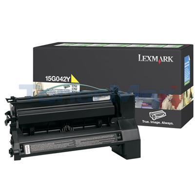 LEXMARK C752 PRINT CARTRIDGE YELLOW RP 15K